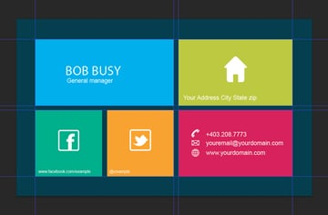 grid business card reverse