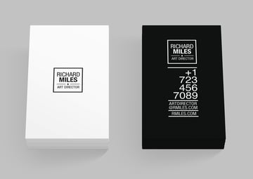 black and white card template