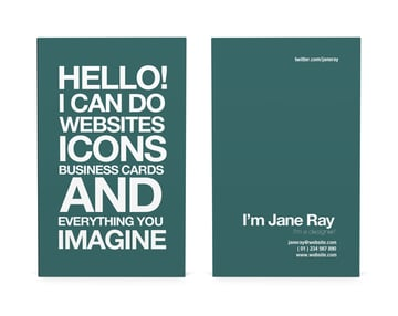 typographic card template
