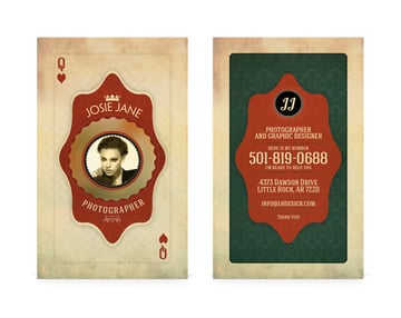 playing card business cards