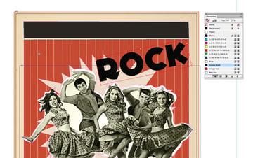 rock text frame
