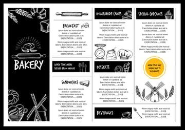 one-sheet menu