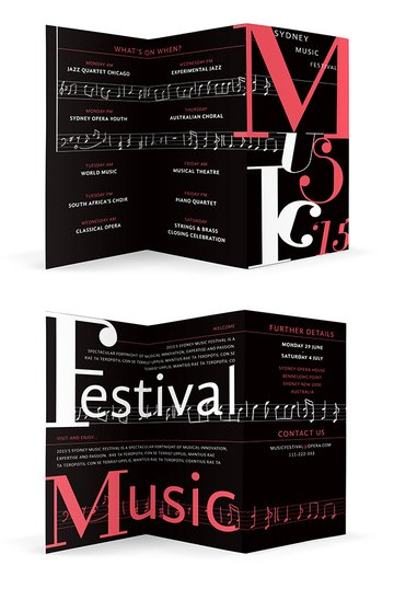 typographic brochure