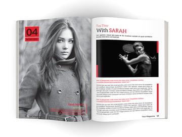 color-pop magazine spread