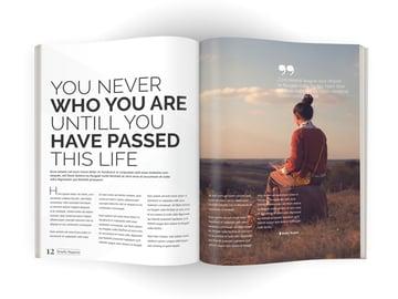 spread of magazine
