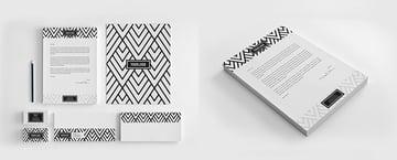 patterned letterhead