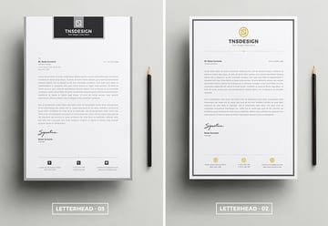 minimal letterhead