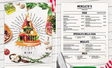 pizza menu