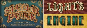 steampunk fonts