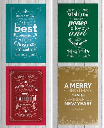 typographic cards