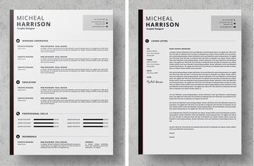 striped resume