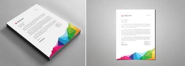 rainbow letter