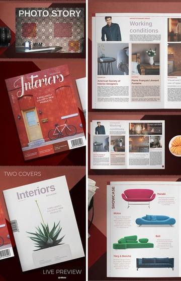 colorful magazine