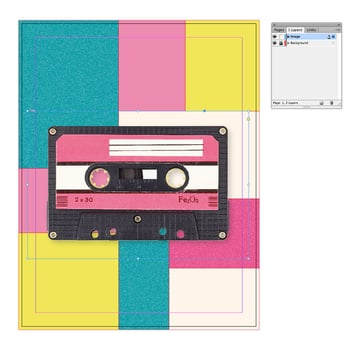 add the cassette tape image