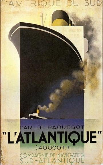 latlantique art deco poster