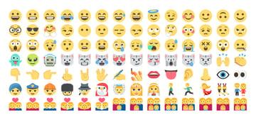 emoji one color font