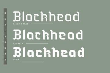 Blackhead Gothic Typography