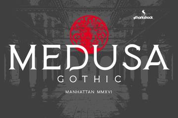 medusa gothic typography font