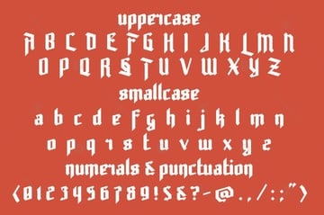 rot shield blackletter calligraphy