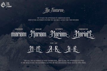 mariam story gothic font