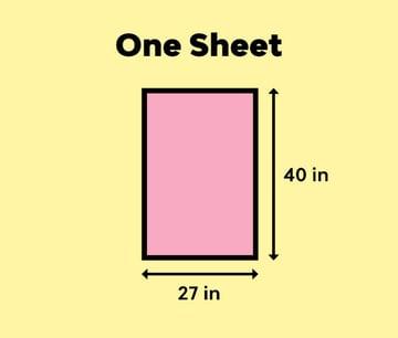 one sheet