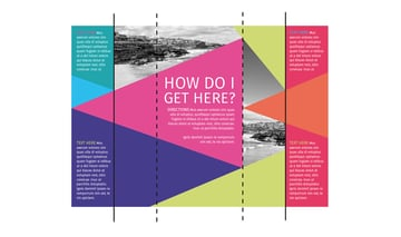 trifold brochure layout with fold lines