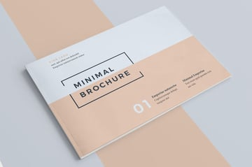 minimal professional booklet template