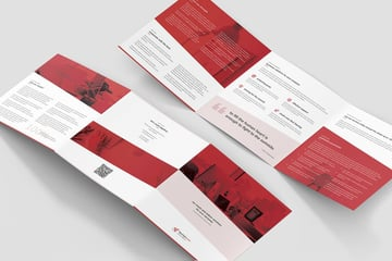 start up trifold brochure layout