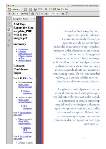 add tags in pdf