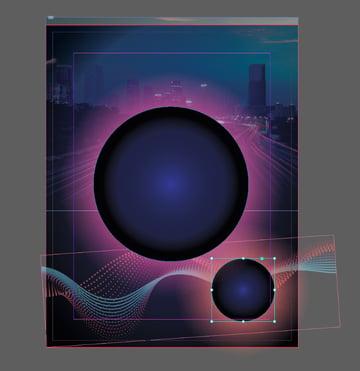 pasted circle shape