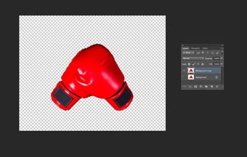 boxing gloves no background
