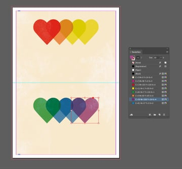 purple heart shape