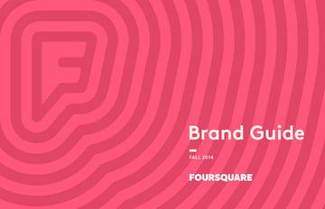 foursquare brand guide cover
