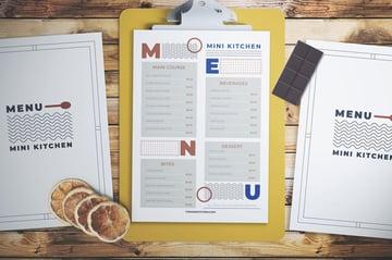 typographic menu