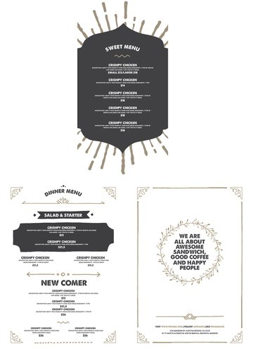hipster menu