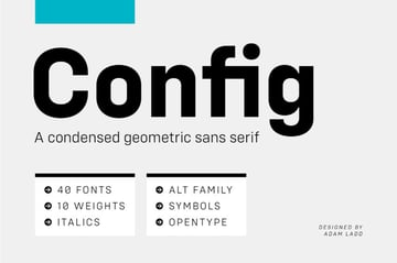 config - a font similar to helvetica