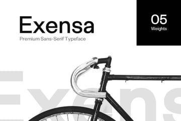 exensa - a font similar to helvetica