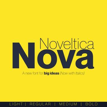 noveltica nova - a font similar to helvetica