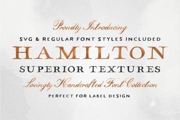 hamilton font