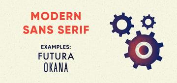 modern sans serif