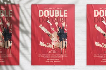 double exposure poster template