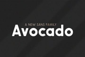 avocado font