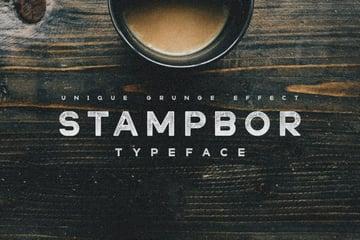 stampbor font