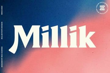 Millik vintage display font.