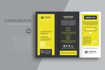 yellow trifold