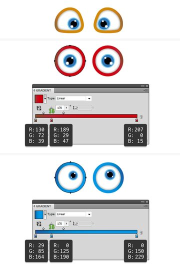 create the eyes 5