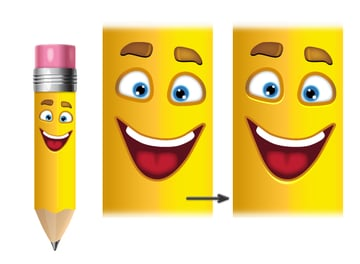 add face to pencil