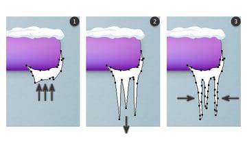 Create icicles 1