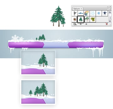 Add trees on the bar