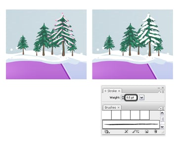 Add snow on trees 1